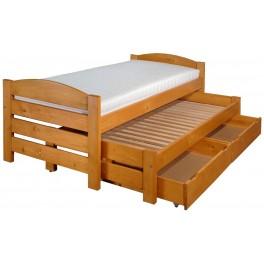 Daniel - Víceúčelová rozkládací postel ze smrkové spárovky